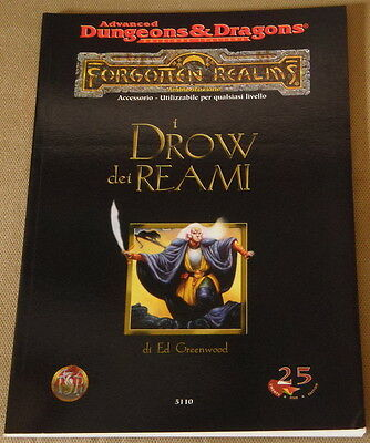 Ad&d-Forgotten Realms - I Drow Dei Reami -Nuovo- Dungeons&dragons-D&d-Tsr/25 Ed.