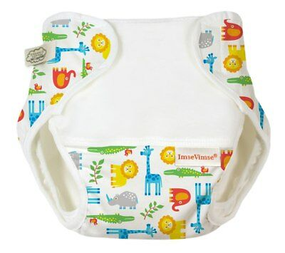 Organic Cotton Nappy Cover Zoo Print - Excellent Fit!