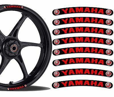 8 Yamaha Wheel Rim Vinyl Stickers Stripes Moto Car Bike Motorcycle Tuning Rv 8