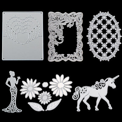 Metal Horse Flower Frame Cutting Dies Stencils Scrapbooking Album Embossing DIY