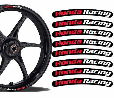 8 Honda Racing Wheel Rim Vinyl Stickers Stripes Moto Car Motorcycle Tuning Rv 3