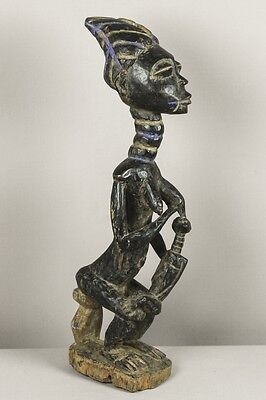 Old and authentic Kulango maternity figure - Wood statue – African, tribal art