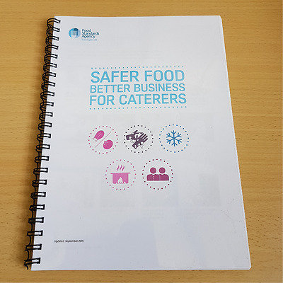 Safer Food Better Business For Caterers - Pack & Diary *** BEST QUALITY***