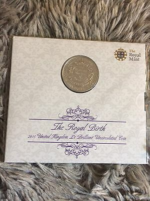 2015 £5 The Royal Birth 2015 UK Princess Charlotte Brilliant Uncirculated Coin