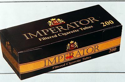 CARTEL 200 IMPERATOR  Filtered Black Cigarette Tubes