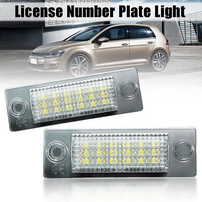 2X Led Lampade Luci Luce Targa Bianco Per Vw Caddy T5 Transporter Golf Passat