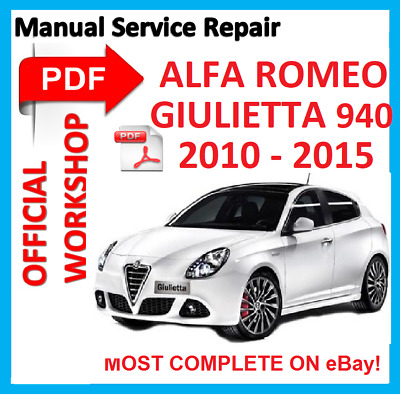 # OFFICIAL WORKSHOP MANUAL service repair Alfa Romeo  Giulietta  A-191 (940)