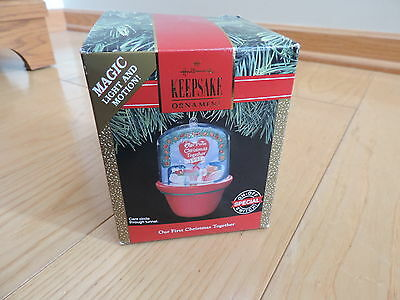 Our First Christmas Together Hallmark Christmas Ornament Light Motion (b552)