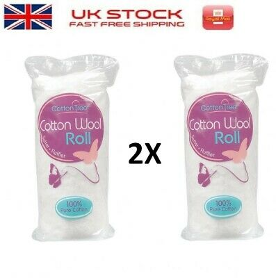 Pack of 3 Cotton Tree Cotton Wool Roll 125G