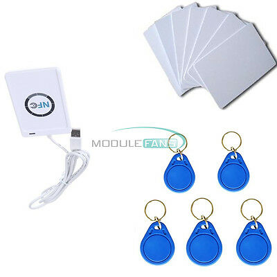 13.56Mhz ACR122u NFC Reader&Writer RFID Copier Duplicator+5pcs UID Cards+Tags