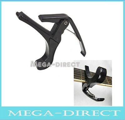 #6007 Acoustic Electric Tune Quick Change Trigger Guitar Capo Key Clamp Black