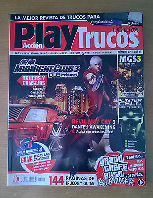 Play Acción Trucos Número 12 Ps2 Midnight Club 3 Devil May Cry 3 Splinter Cell