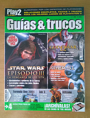Play2Mania Guias Y Trucos Número 34 Ps2 Star Wars God Of War Area 51
