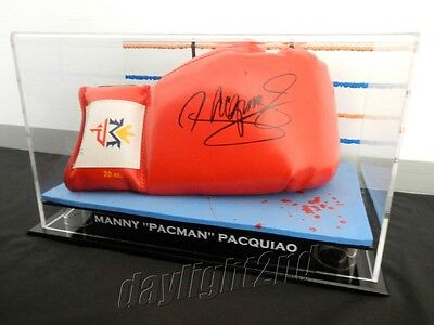 "✺Signed✺ MANNY ""PACMAN"" PACQUIAO Boxing Glove PROOF COA UFC MMA Floyd Mayweather"