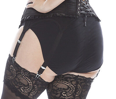 Six strap mesh suspender belt for curvy Plus Size ladies with big hips UK22-34