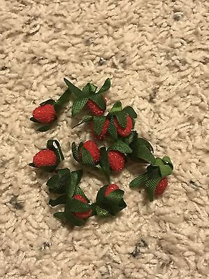 American Girl Doll Kirsten Retired Pleasant Company Party Treats 12 Strawberries