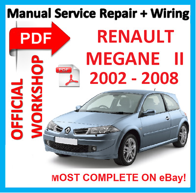 official workshop manual service repair renault megane 2 2002 2008 picclick uk. Black Bedroom Furniture Sets. Home Design Ideas