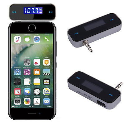 iPhone 7 3.5mm Wireless FM Transmitter MP3 Music to Car Speaker Audio Adapter