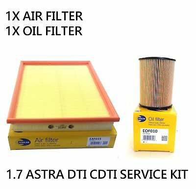 For Vauxhall Astra Van G H Mk4 1.7 Dti Cdti 98-05 Oil Air Filter Service Kit