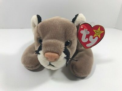 TY Beanie Babies Baby Canyon Cougar Plush Stuffed Animal Toy W/ Tags Retired