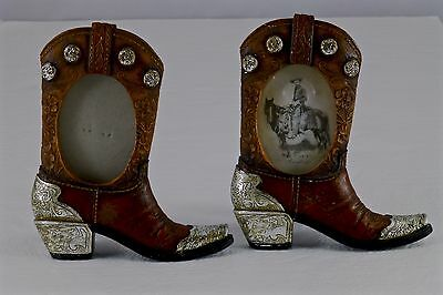 Very Nice Pair Of Western Cowboy Picture Frames Horse! Shellers (2)