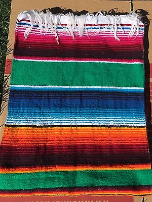 Authentic Mexican Multi-color Serape Blankets. (Please specify #picture ordering