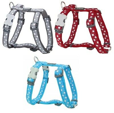 Red Dingo Stylish Star Design Harness for Dog / Puppy XS - LG  FREE P&P