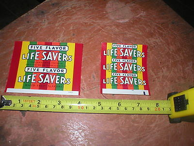 Rare 1960's Two Life Savers  Candy Wrappers Original Unused
