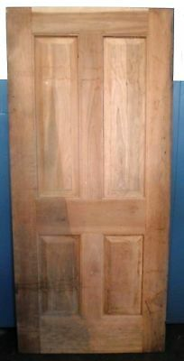 Solid Cherry Wood 4-Panel Door NOS