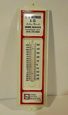 Vintage Original S.a. Morman & Co. Building Materials Advertising Thermometer