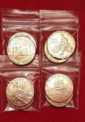 2009 P&D Lincoln Cents Bicentennial Penny Set (8 coins) SAME DAY SHIP