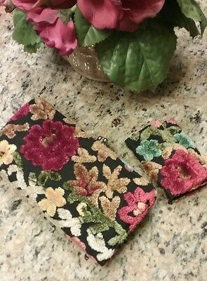 Vintage Tapestry Chenille Wallet and Key Case 1960's- Never Used!