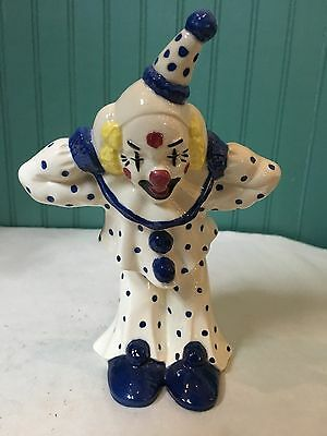 "Beautiful Handpainted Porcelain 7.5"" Clown Figurine"