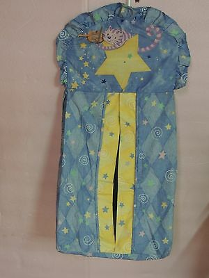 Kidsline Fly Me To The Moon Diaper Stacker Blue Yellow Cat Fiddle Stars Rhyme