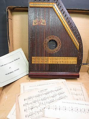 Vintage A R Yendrick Club Special Hawaiian Mandolin Harp In Box w Sheet Music