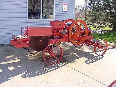 Galloway Hit Miss Gas Engine Saw Rig Runs Backwards With Friction Mag Ignition