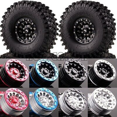 "4P RC 1/10 Rock Crawler 1.9"" Metal Wheel & 120mm Super Swamper Rocks 1060-7037"