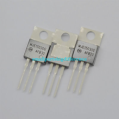 5pairs 10pcs MJE15030G MJE15031G TO-220 Transistor New Original