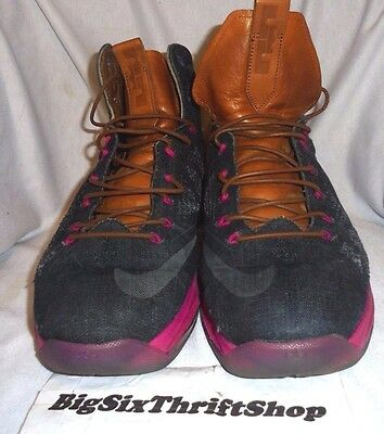 78616bf9c312c Nike Lebron James 10 X EXT DENIM QS 597806 400 Cork MVP Size 12 Adult Shoes