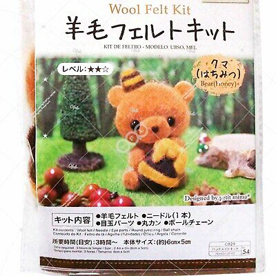 Needle Felting animal Kit blue white yellow Roving Wool DIY Handcraft - Penguin
