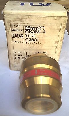 TLV Check Valve CK3M-A 25mm Brass New Made In Japan Free Postage