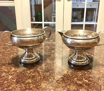 Vintage Sterling Silver Sugar and Creamer Set (weighted) 216 grams