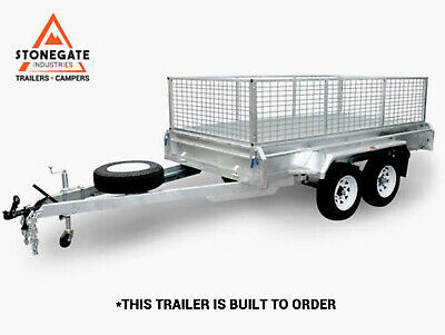 8x5 Hot Dip Galvanized Tandem Dual Axle Trailer with 600mm Cage 1900KG ATM Qld