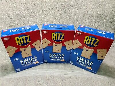 3x BOXES OF CANADIAN CHRISTIE Swiss Cheese Crackers 3X200=600g Total from Canada