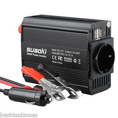 Suaoki 300W Power Inverter DC 12V 220V-240V AC Convertitore di inverter per auto