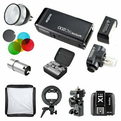 Godox AD200 TTL HSS Pocket Flash + X1T-S for Sony + Reflecor & Filter & Softbox