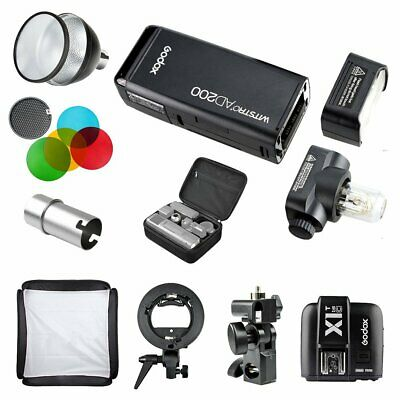 Godox AD200 TTL HSS Pocket Flash + X1T-C Trigger + Reflecor & Filter & Softbox
