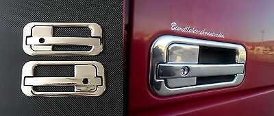 3D Chrome Mirror Stainless Steel Metal Handle Door Covers for DAF XF 95/105 L&R