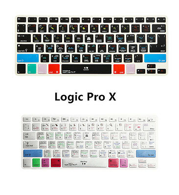 Logic Pro X Shortcut Function Keyboard Cover Skin for MacBook Air Pro 13 15 17