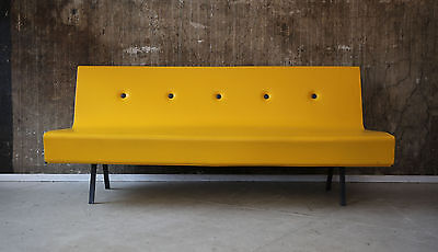 1(2) MODERNES SOFA SCHAUMSTOFF COATED FOAM 3-SEATER SOFA YELLOW GELB 60s style